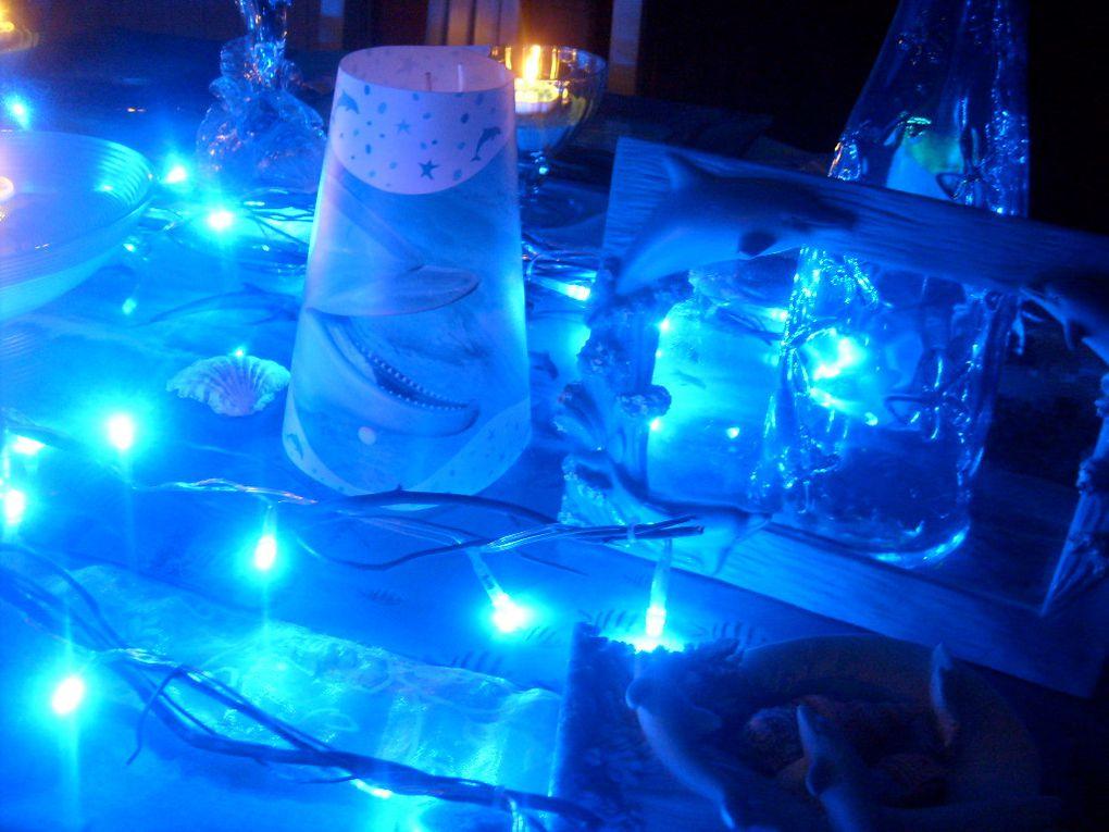 """table pour le défi de Delphine """"nos amis les animaux """"la beauté et la grâce de ce magnifique mammifère marin..."""