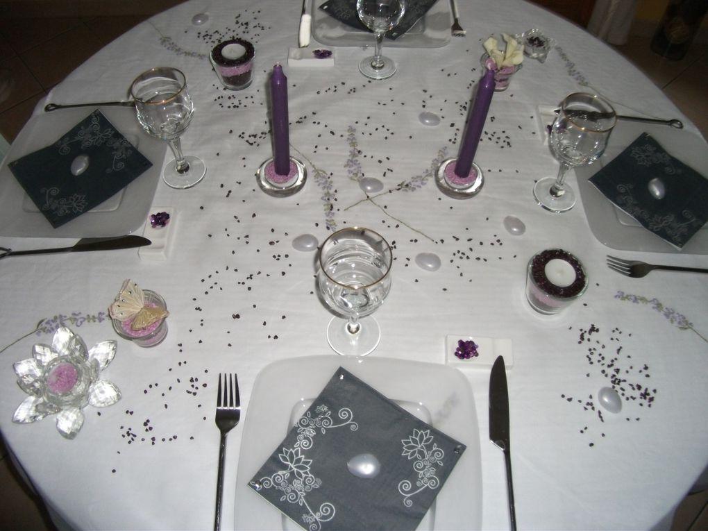 table aux 2 couleurs tendres que j'adore....