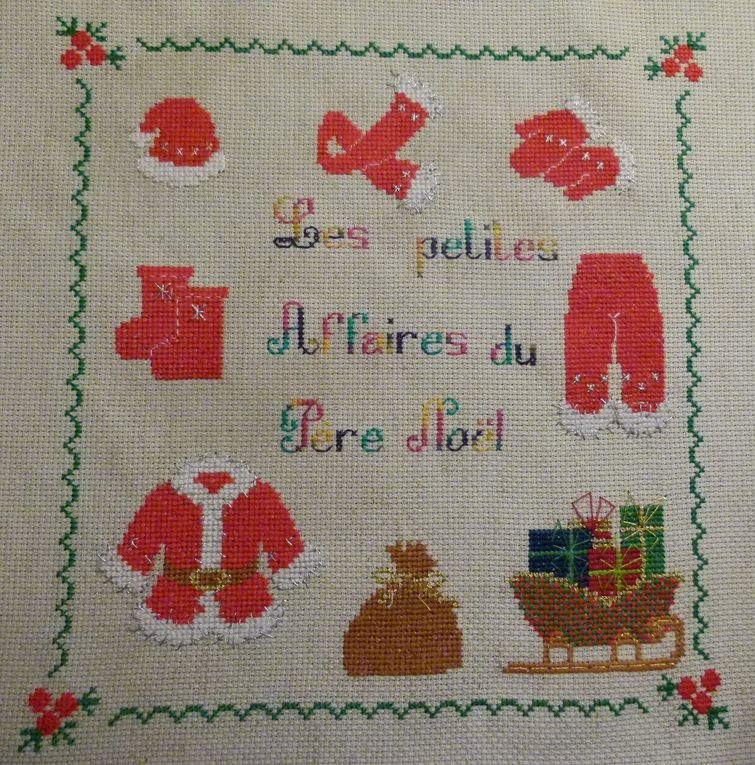 mes broderies à points comptés 2012
