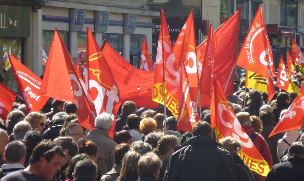 Manifestation du 1er mai 2012 à Caen.