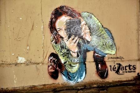 photos de peintures des rues dans le 5ème