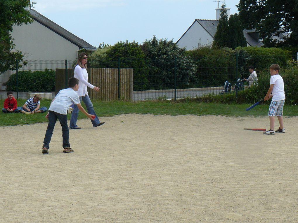 3e Trimestre, sport: Base-ball, cricket et rugby, motricité pour les maternelles.