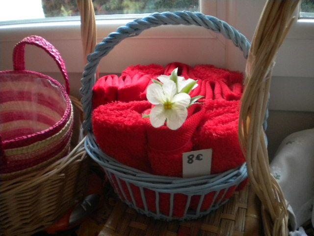 Petites lavettes multi-usages:laver les mains ou les fesses des petits, faire ses poussières...Plus écolo que les lingettes du commerce!