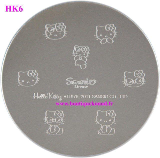 Sanrio le créateur d' Hello Kitty a crée 12 plaques pour stamping nail art