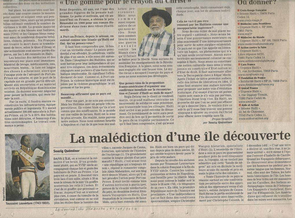 Haïti séisme chaire Landes Colloque CGL Dax