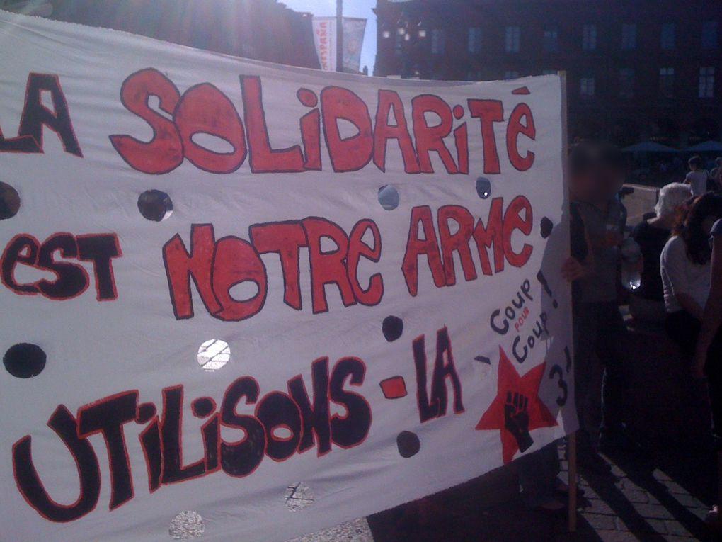 Différentes photos de manifestations, rassemblements à Toulouse et ailleurs où nous étions présents.