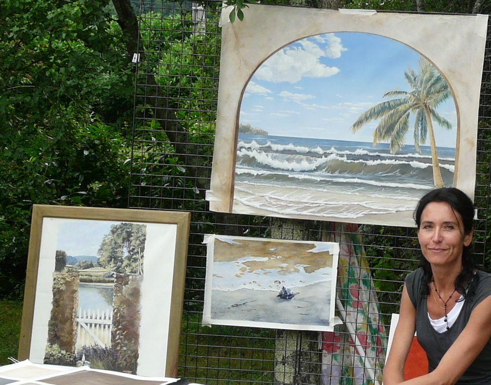 Le 9 juillet 2010, une dizaine d'artisans d'art et créateurs exposaient aux ateliers d'art de Clermont.