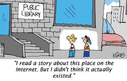 Des petites caricatures ... parce que les bibliothécaires sont facilement stéréotypés. Bravo pour les dessins et les idées !