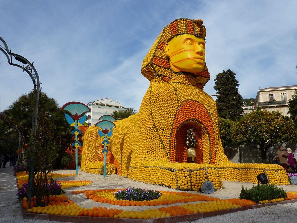 Fête des Citrons de Menton - Menton célèbre les Grandes Civilisations- visite des Jardins de Biovès du 19 février 2011.