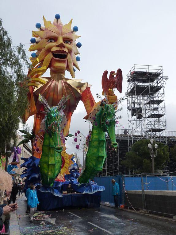 Carnaval de Nice 2011, le Roi de la Méditerranée. Corso du 20 février 2011.