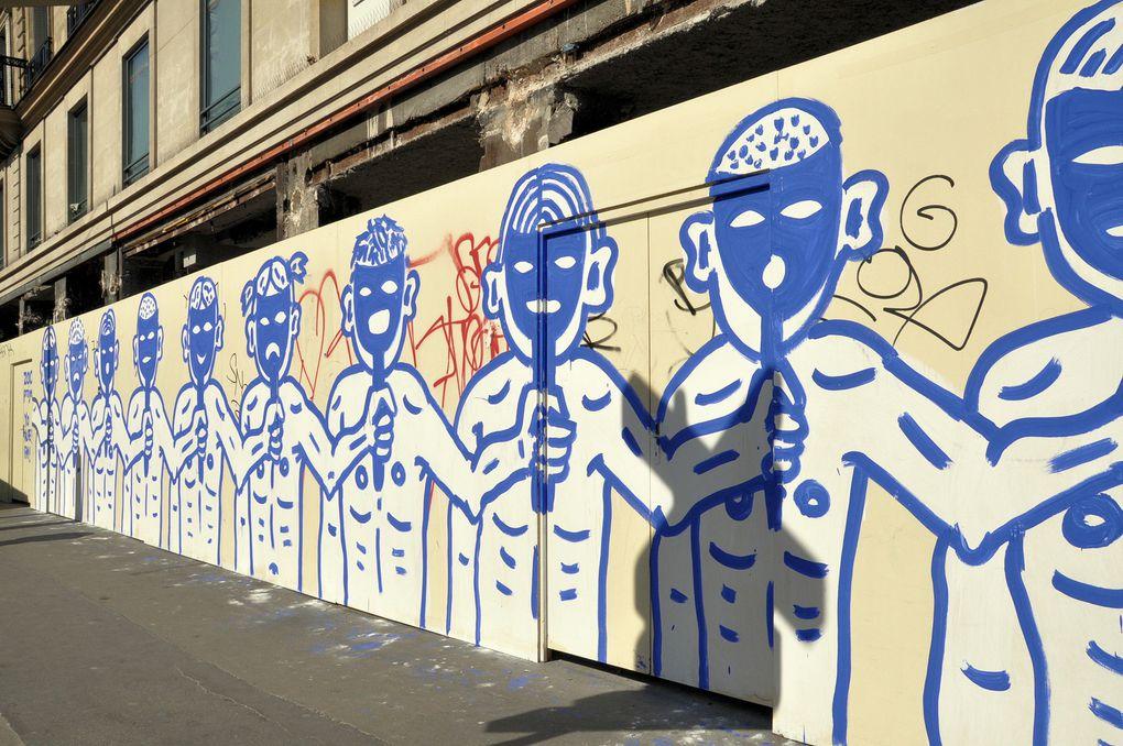 Des collages photographiés au hasard de mes ballades parisiennes