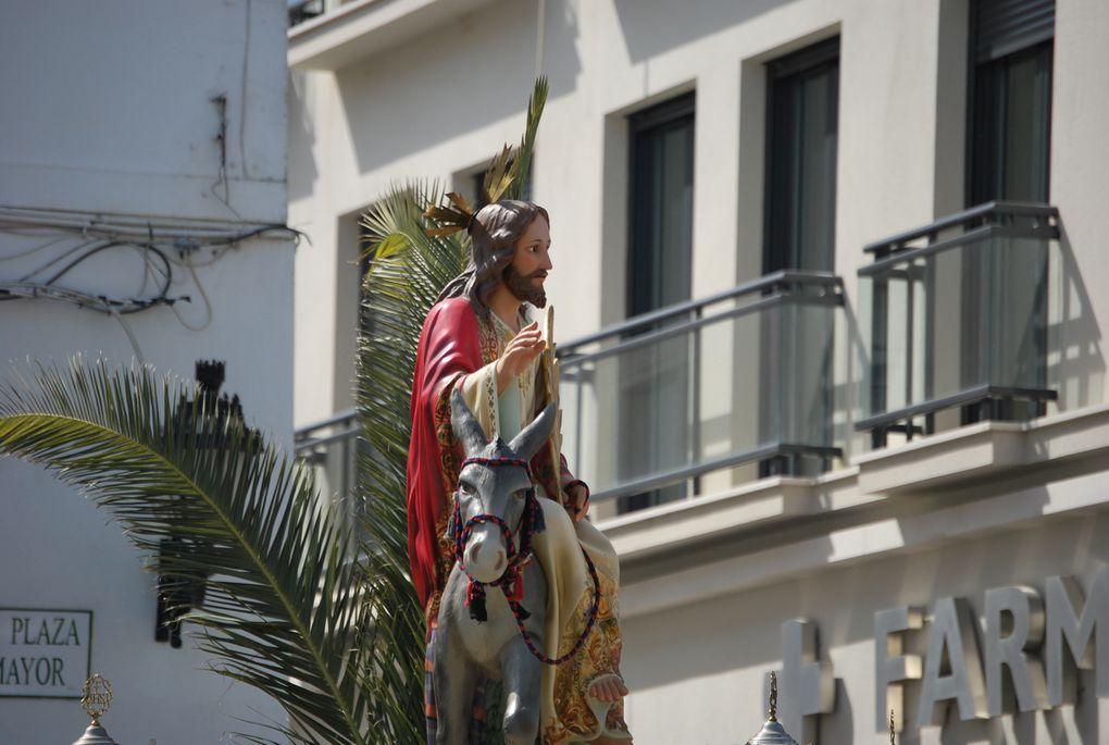 Jesús en su entrada triunfal en Jerusalem.
