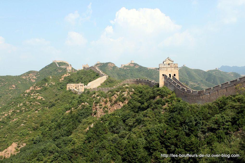 Partie localisee a Jinshianling de la Grande Muraille de Chine
