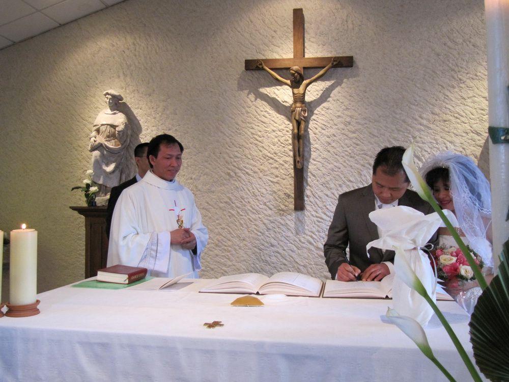Mariage de Xuan Thuy le 17 avril en la chapelle St Come et St Damien