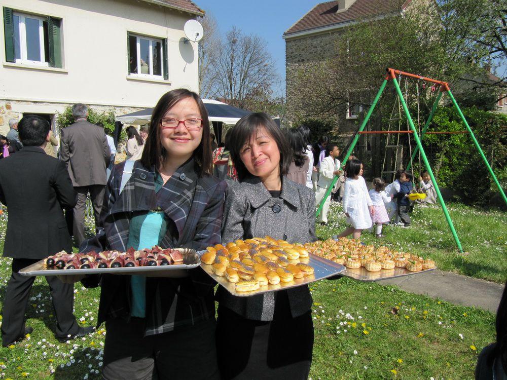 Bapteme de Y Xuan Claire en l'eglise de Notre-Dame de la Voie