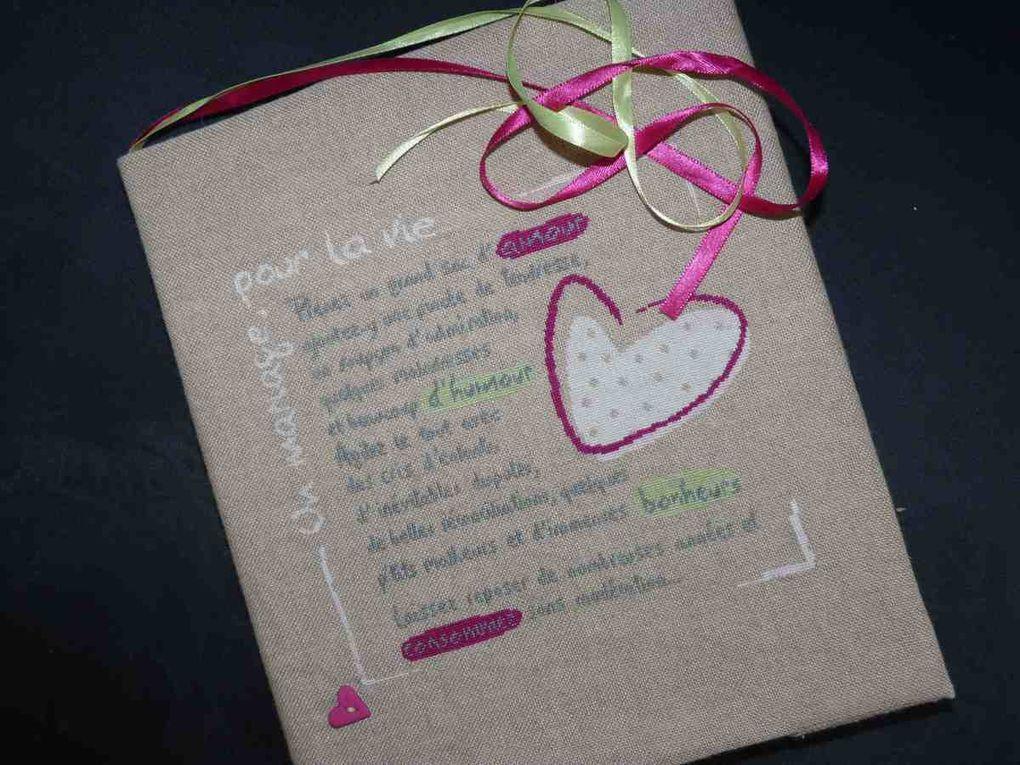 Cadeaux réalisés pour des mariages ou anniversaires de mariage.