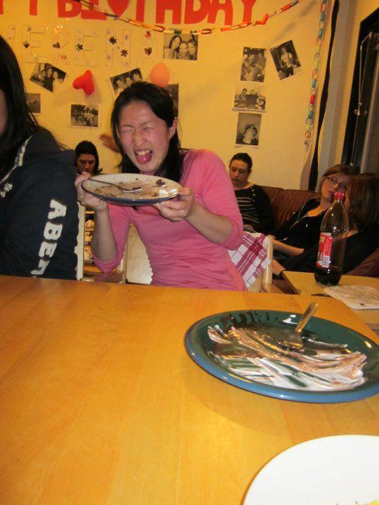 Jeudi 16 décembre 2010, 3 semaines après la date officielle : le repas de Thanksgiving dans mon corridor. Une super journée entre préparation, dégustation et cadeaux surprises !