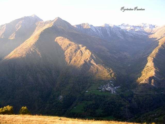 Transhumance estivale des brebis et des vaches au mont agut, situé entre Luz-St-Sauveur et Barèges dans les hautes-pyrénées