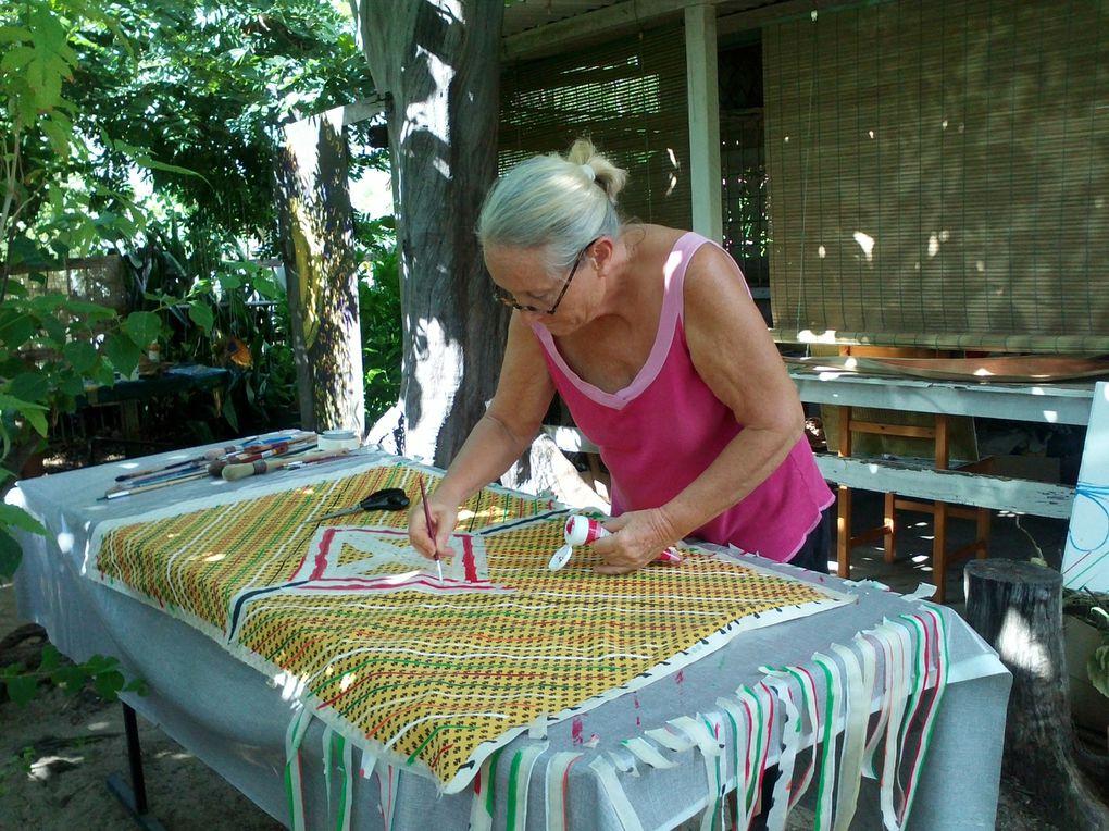 Quelques photos du work shop fil Rouge à la Réunion mars 2013