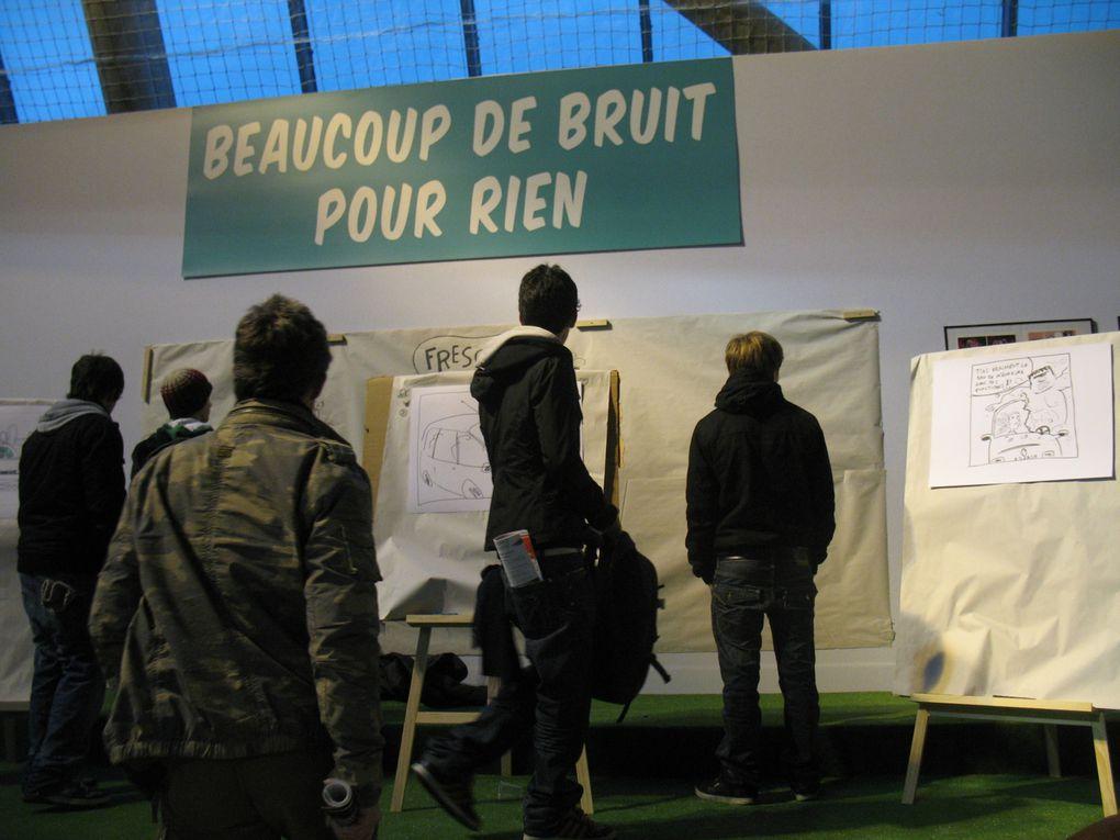 Les photos du Week end Bd de l'Hippodrome de Vincennes 4 & 5 décembre 2010, Beaucoup de Bruit pour Rien et ses invités sur la mezzanine.Photos by Miléna