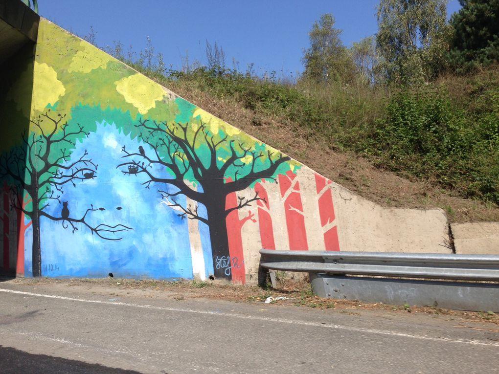 Fresques, peintures, trompes l' oeil, décor,paysage