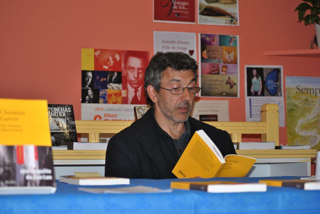 """Christian Garcin est venu nous faire une lecture et parler de son dernier roman """"Des femmes disparaissent"""" (Verdier)"""