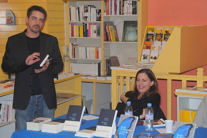 """Colombe Schneck et Emilie de Turckheim sont venues à l'Escale Littéraire le 28/09/2010. Colombe pour """"Une femme célèbre"""" (Stock) et Emilie pour """"Le jolis mois de mai"""" (EHO)"""