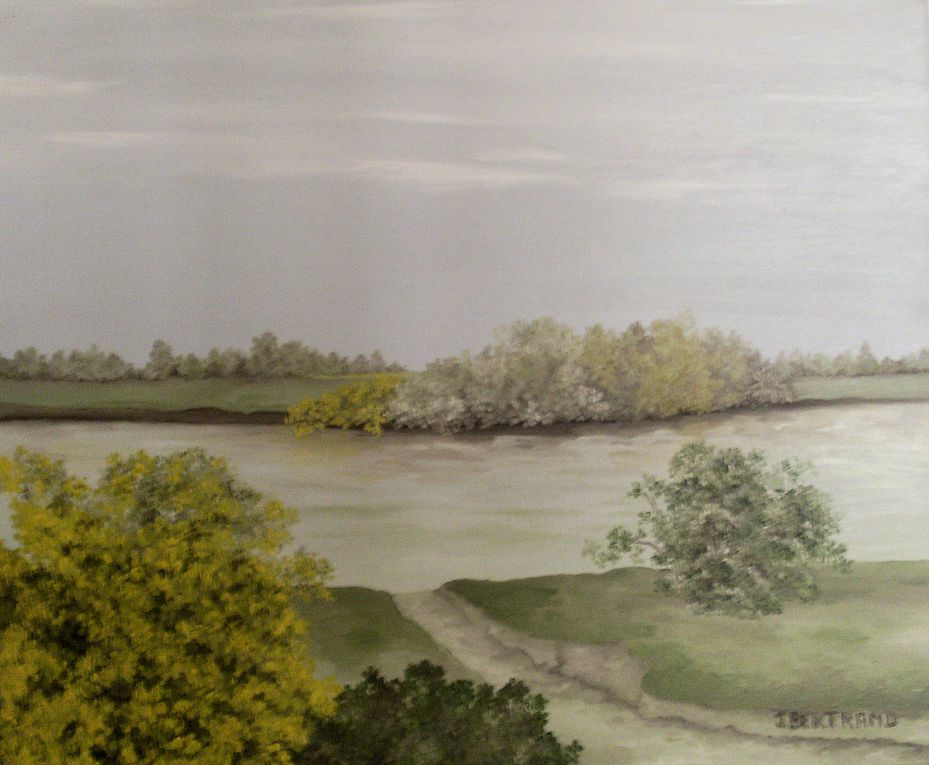 Le peintre Joëlle Bertrand se retrouve souvent dans la nature.Ses pinceaux et ses couleurs l'entrainent à réaliser des oeuvres aux teintes chaudes.De l'imaginatif à la réalité.