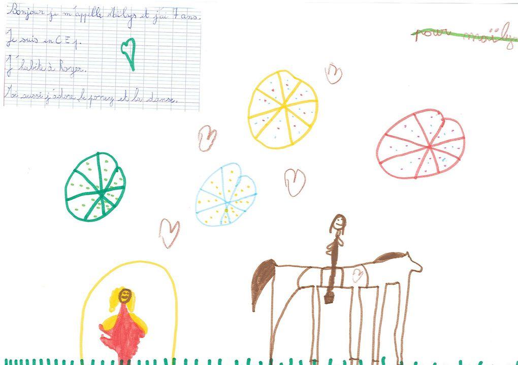 Ces dessins ont été faits par les écoliers de Jourgnac pour Marion et Antoine. Un grand merci à eux