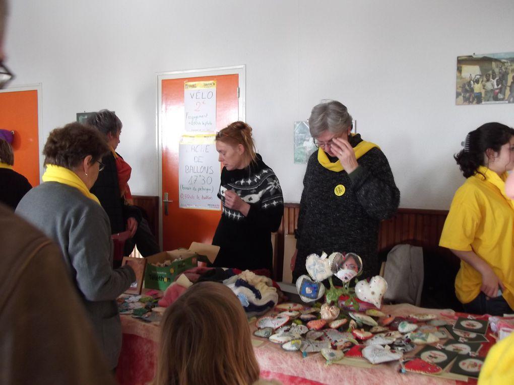 Photos de nos participations au Téléthon à Jourgnac et Saint-Hialire les Places.