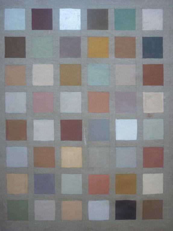Des matières, des textures, des détails de peintures décoratives réalisées à partir de matériaux naturels