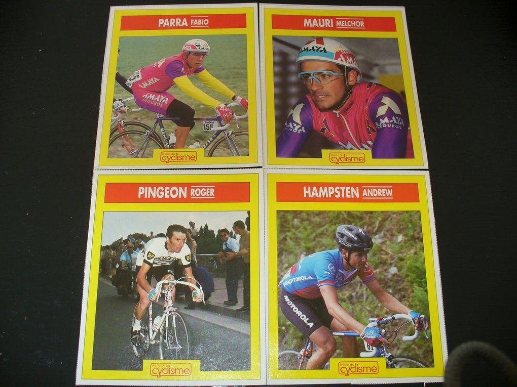 anciennes sréries de cartes coureurs dont certaines que je cherche a compléter