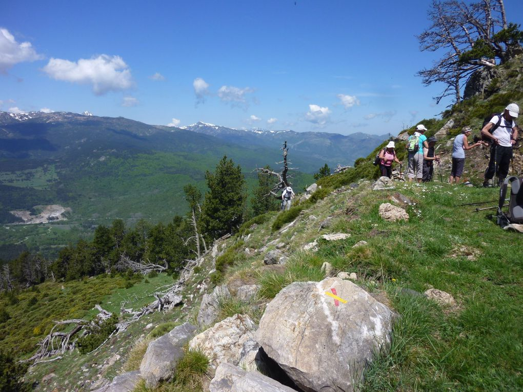 Randonnées du 27 mai au 3 juin 2012 dans les pyrénées à partir de Font-Romeu.90 Km pour 4060 m de dénivelé