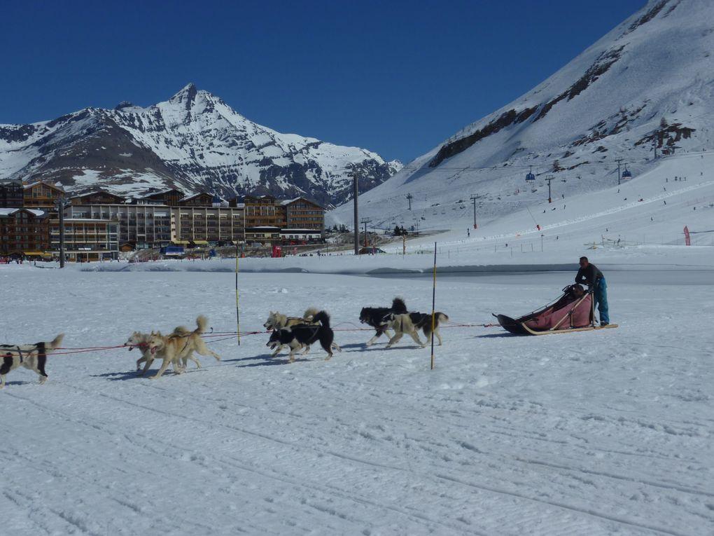 Séjour de ski de piste à Tignes le lac le bec rouge chez Véro et Jean Marc avec Mag et Manu.