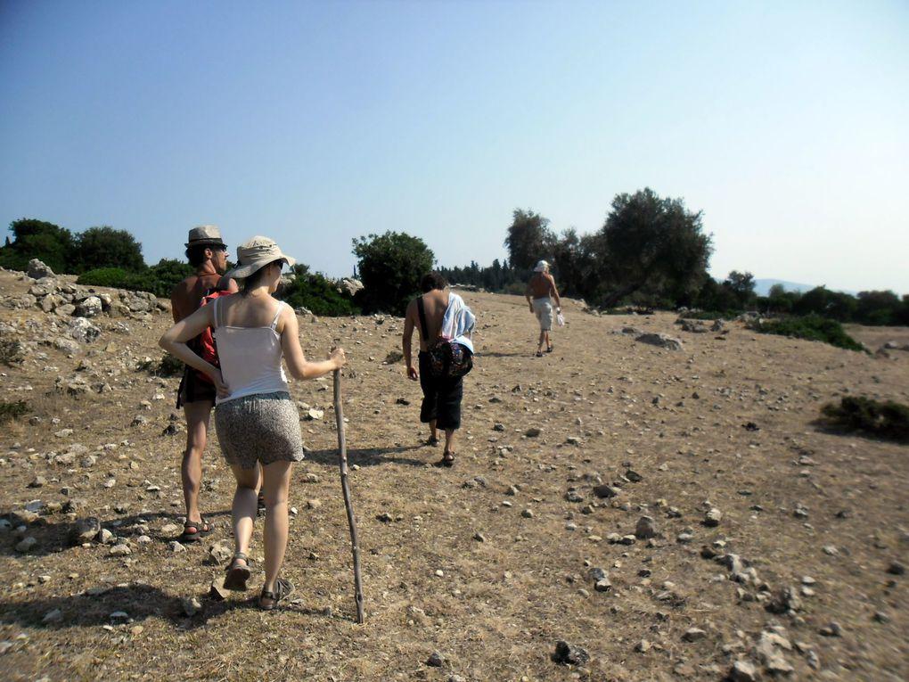 avec Juliette, Renaud, Marie et Jean-Philippe, seconde quinzaine de juillet, Iles ioniennes et golfes de Patras et Corinthe.