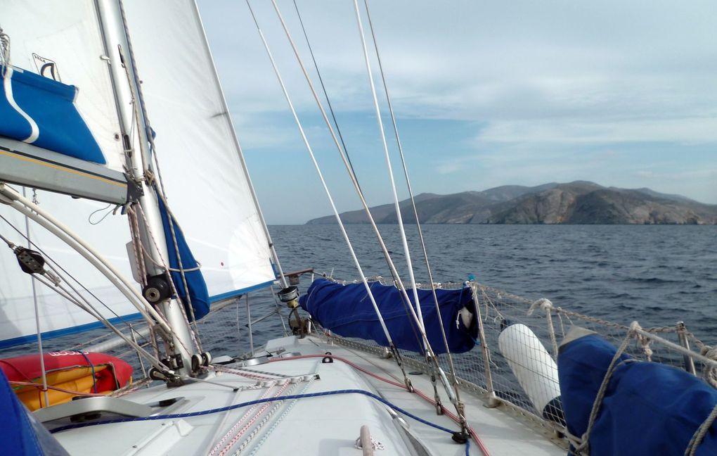 avec Henri, Charles et Claudes, de Volos à Mykonos, début octobre