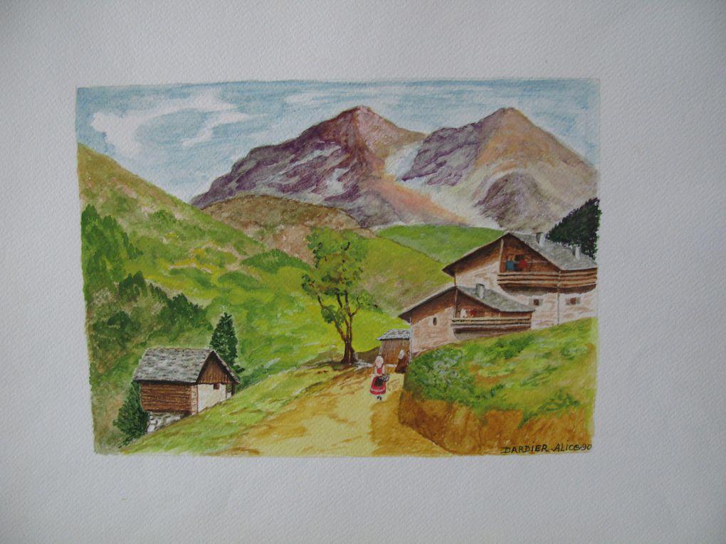 Ce sont des aquarelles réalisées par Alice DARDIER peintre amateur. A l'époque où elle habitait à Roussillon dans le Vaucluse.
