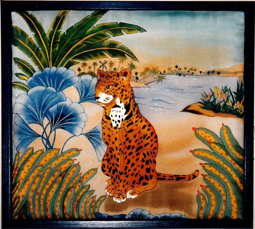 peinture sur soie peint sur pongé no 9