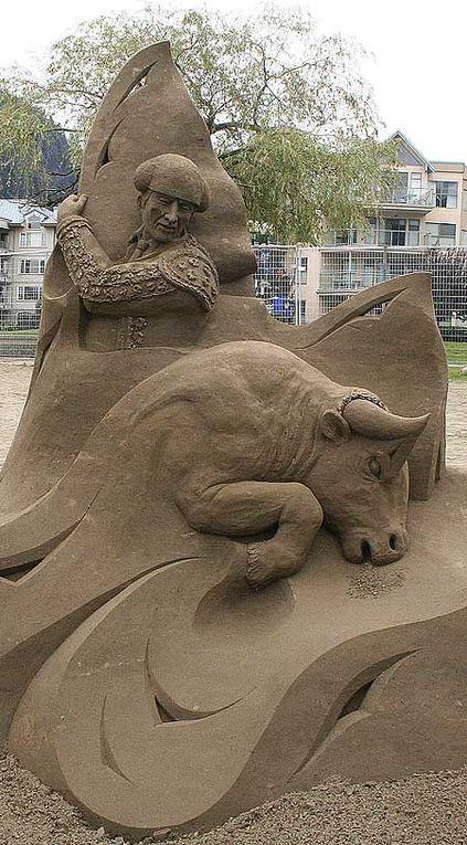 Magnifiques sculptures de sable