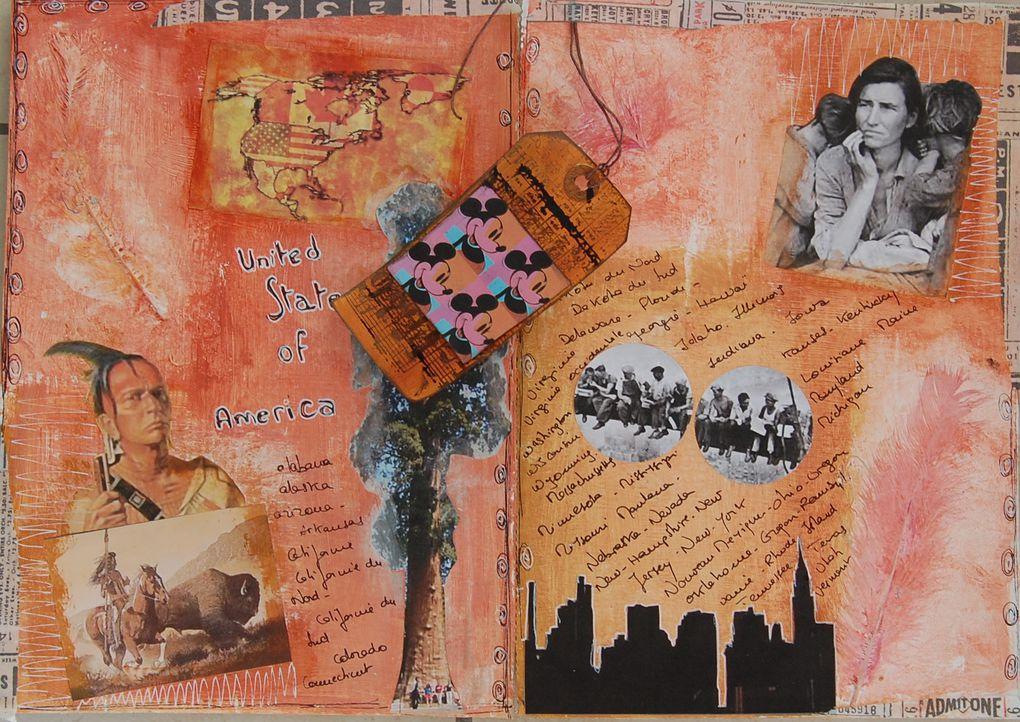 Art journal réalisé sur le forum Incartades.