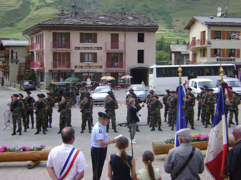 La 5e compagnie du 13e BCA, jumelée avec la Compagnie Stéphane, était à Bessans pour sa cérémonie annuelle.Photos : J.Tracq