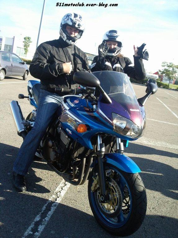 Départ et retour à partir de Dijon, organisé par Olivier et sa BMW.