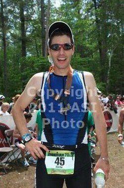 Mon premier triathlon : un half IronMan aux USA, en 5h48' (1,9km nage, 90km vélo, 21,1km course à pied).