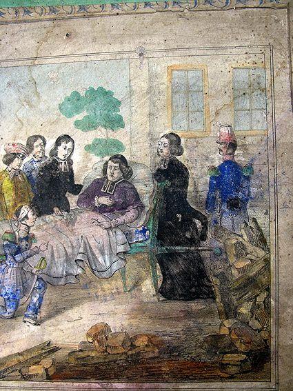 Il s'agit d'un puzzle historique illustrant l'héroïsme de l'archevèque de Paris durant la Commune en 1848