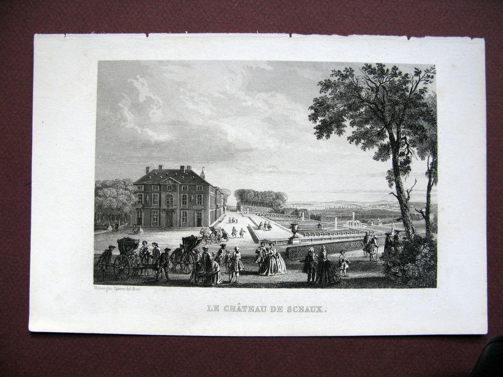 """Eau-forte aciérée pour l'illustration du livre """"revueil de gravures de châteaux et villes d'Ile de France"""""""