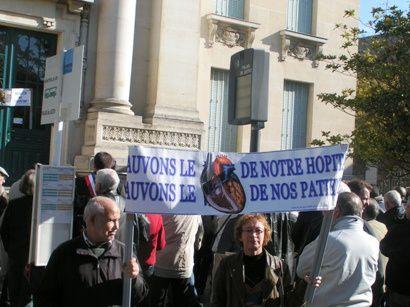 Manifestation organisée à Mantes-la-Jolie le 29 septembre 2012 par le comité coeur.hopital.mantes