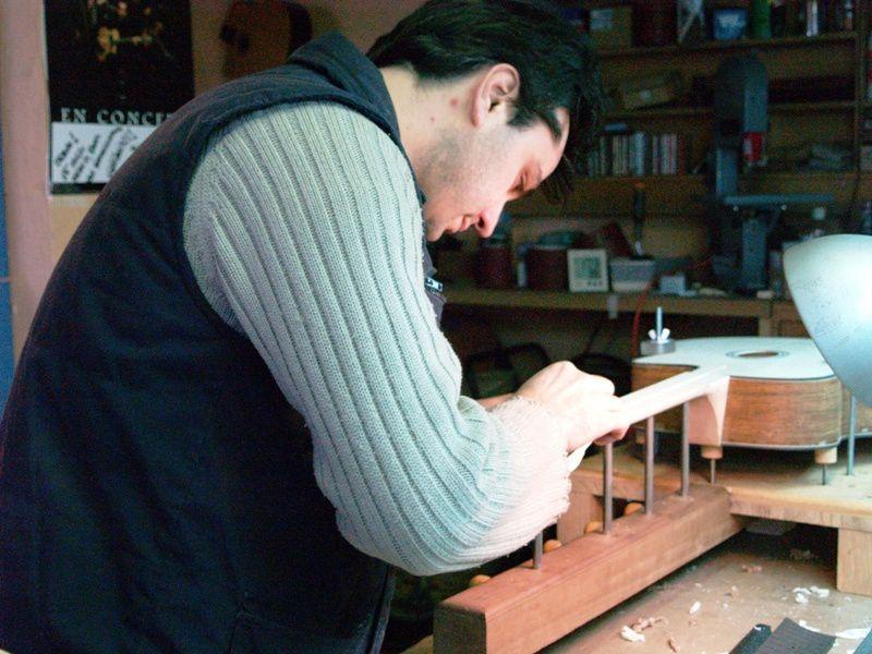 Atelier de lutherie Fabian Le Dosseur et Gérald Alonso à Canteleu près de Rouen.