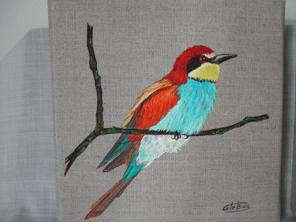 un petit aperçu de mes tableaux, certains déjà anciens, à l'huile, aux pastels ou à l'acrylique.