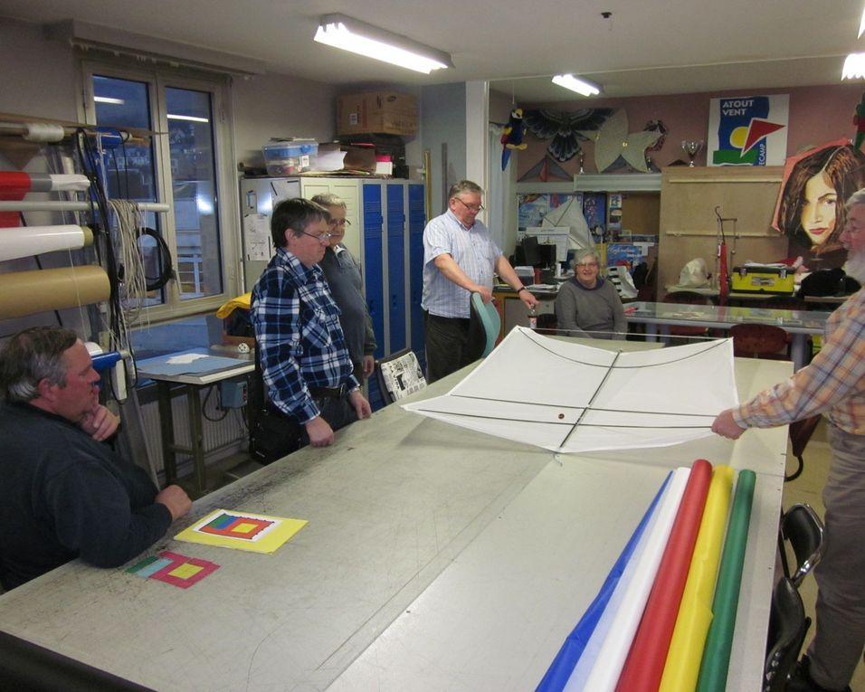 Les 23 et 24 mars, nous avons fait notre atelier associatif annuel, l'originalité de ce cerf-volant est sa dénomination de cerf-volant sans bride