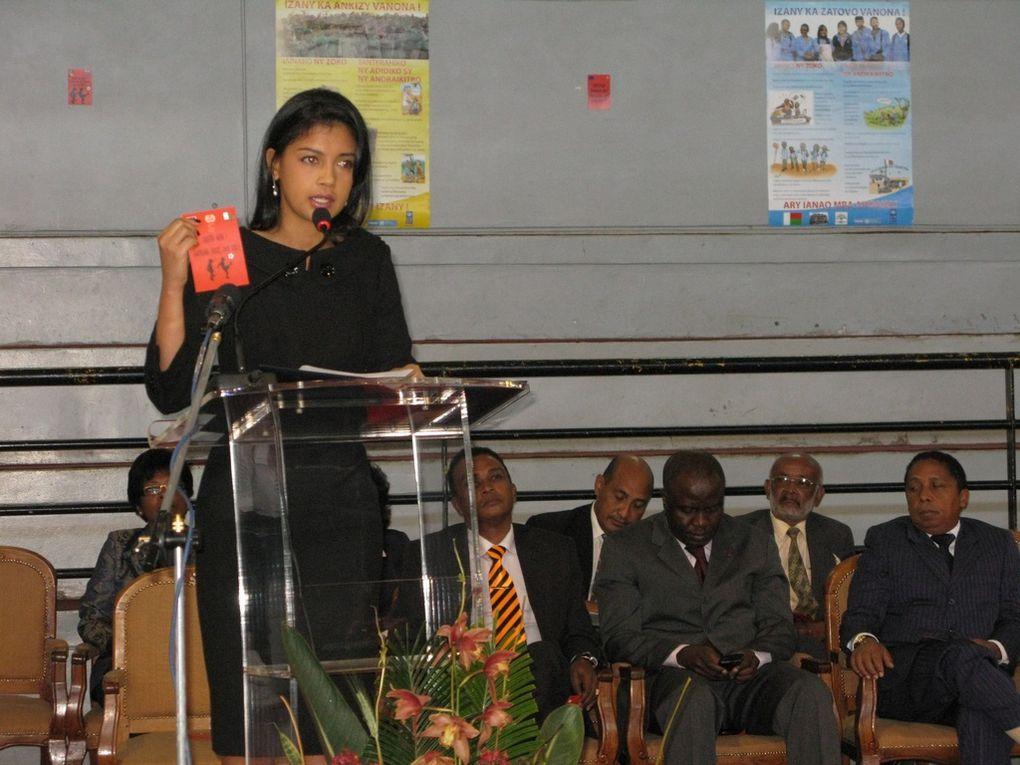 Journée mondiale contre le travail des enfants. Célébrée en présence de la Première Dame de l'Etat, Mialy Rajoelina. Première partie.